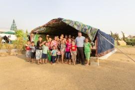 Child-friendly area in a church camp in Erbil.