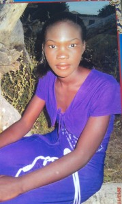 One of the girls abducted by Boko Haram on 14 April from the town of Chibok in Nigeria.