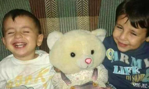 Aylan Kurdi and his older brother, Galip. Photograph: Twitter