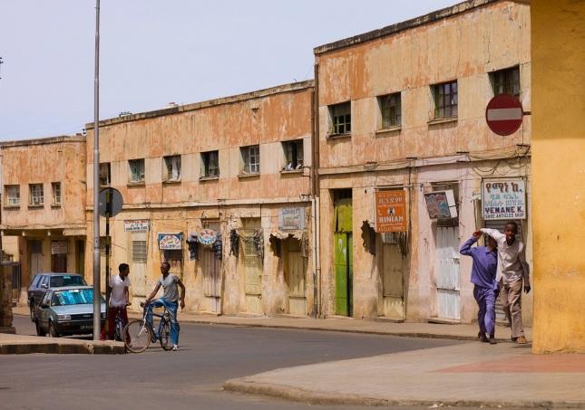 Streetscape in Eritrea