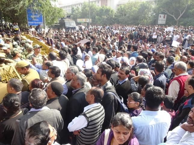 India - Christian protest of church attack in Delhi