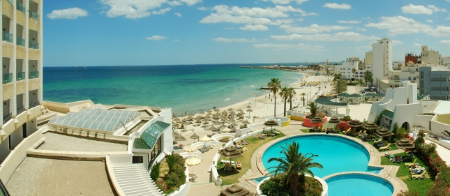 Beach in Sousse, Tunisia