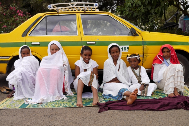 Street scene in Addis Ababa, Ethiopia