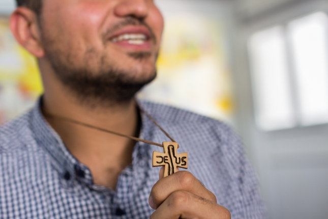 Ramy, Iraqi christian - he was looked down upon by other students, because of the cross he wore.