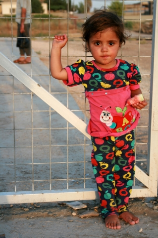 Little girl living in a displaced person camp, her and her family had to flee Islamic State.