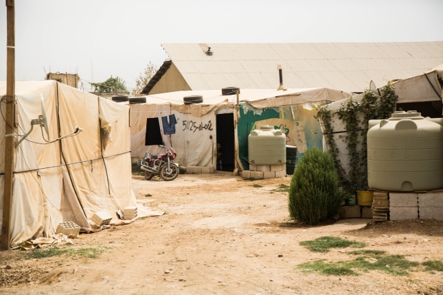 A camp in Lebanon for Syrian refugees.