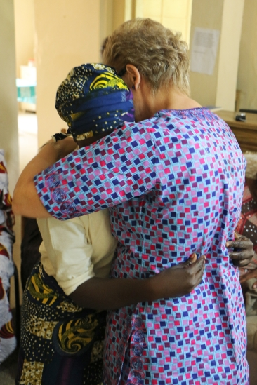 Open Doors visitors meeting widows in Northern Nigeria.
