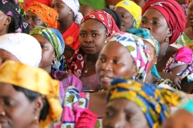 Christian women at church in Northern Nigeria.