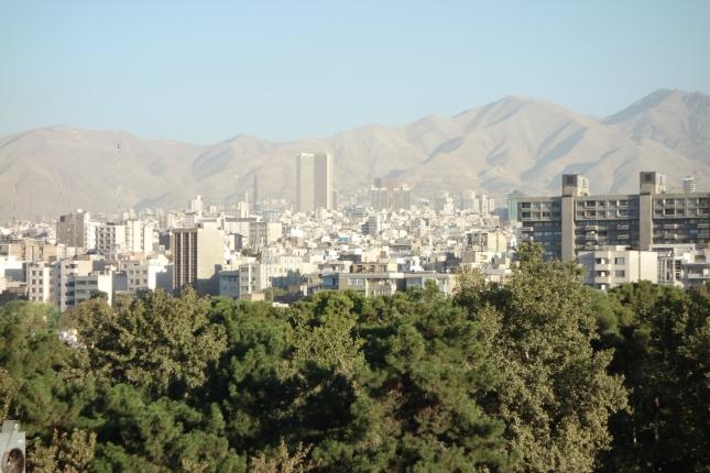 Cityscape of Tehran, Iran.