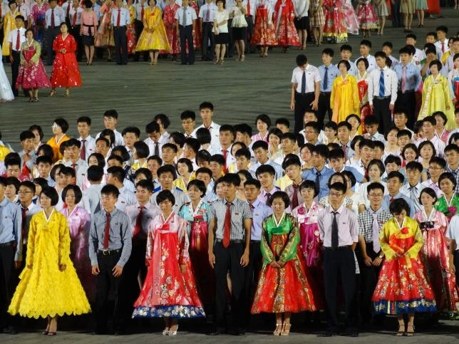 Dance performance in North Korea