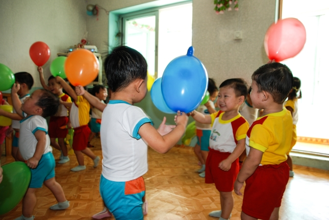 Children playing in an orphanage.