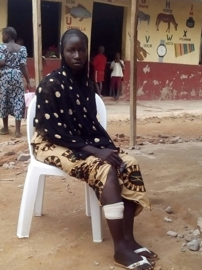 22-year-old Mercy from Nigeria, who endured 5 months captivity by Boko Haram.