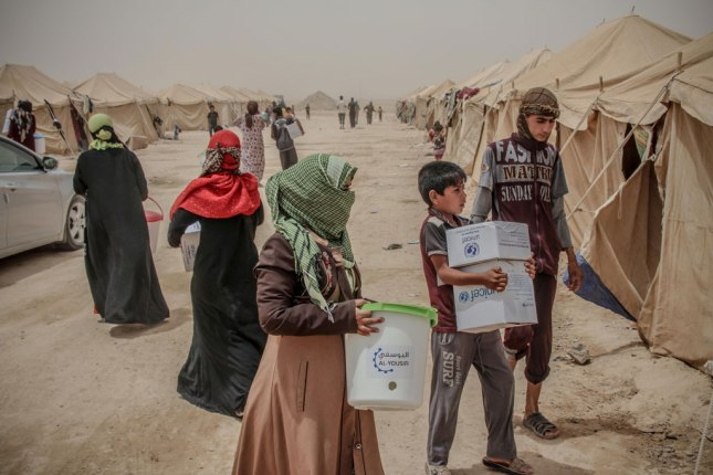Internally Displaced People (IDP)s from Fallujah. Photo: OCHA/Themba Linden