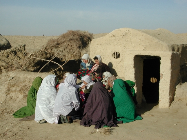 A rural village in Northern Afghanistan. Date: 2002
