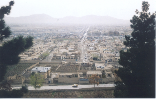 View over the capital of Afghanistan, Kabul. Date: 2006
