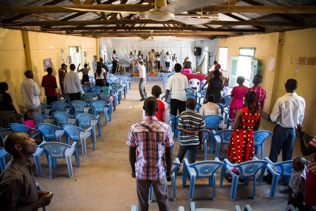 Church meeting in Garissa, where Christians were targeted in a fatal university shooting.