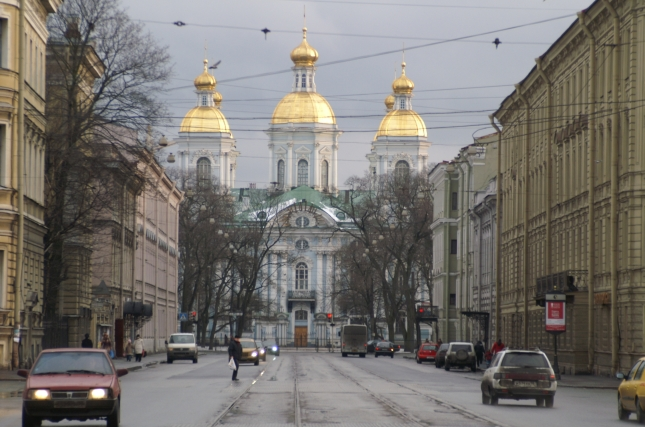 Streets of a city in Russia.