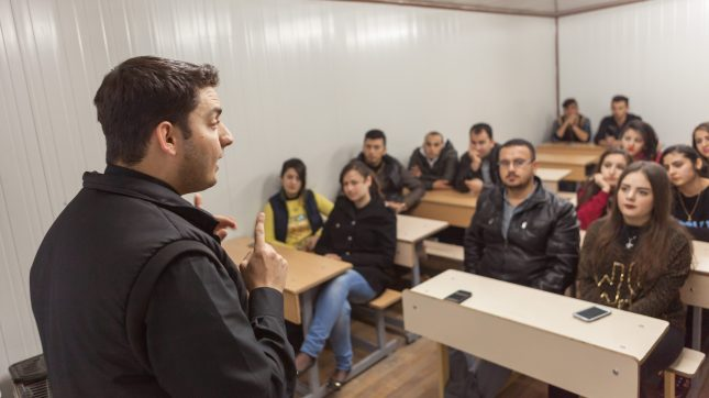25-year-old youth leader Martin holds a youth meeting.
