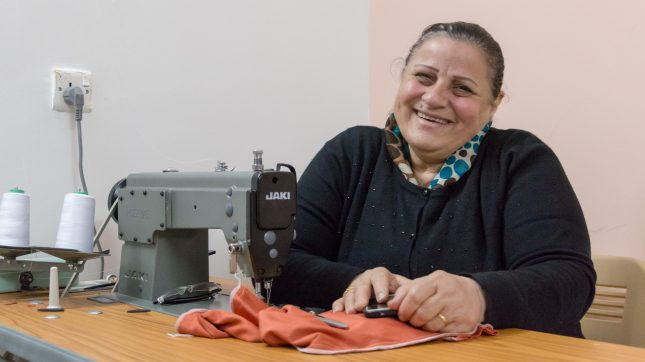 Suaad is a Christian woman, originally from Mosul, but fled to Erbil about 6 years ago because of persecution. She now works in a sewing factory supported by Open Doors.