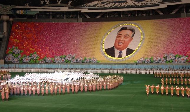 Performance at the Arirang Mass Games.