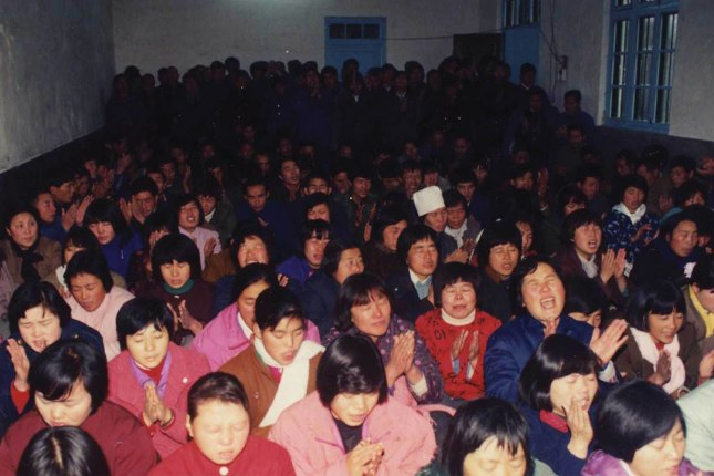 A house church in China in the late 1980s.