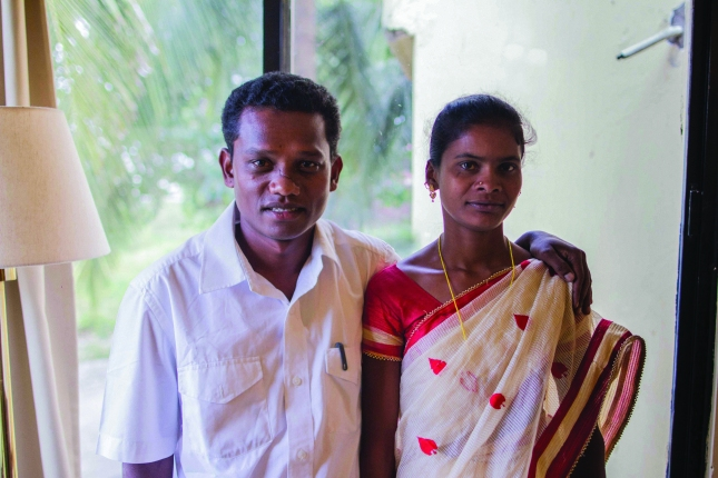 Rajesh and his wife.